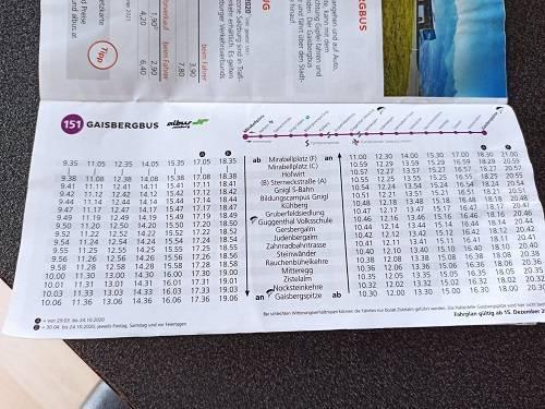 Bus 151 Salzbourg - Gaisberg